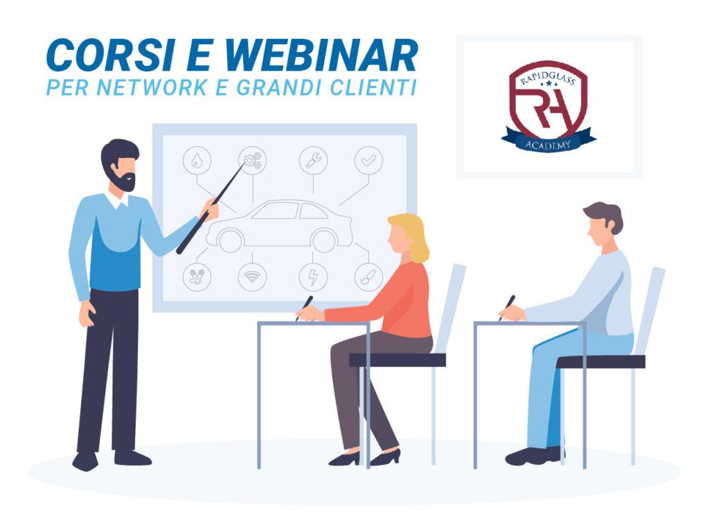 Corsi e Webinar RAPIDGLASS per network e grandi clienti