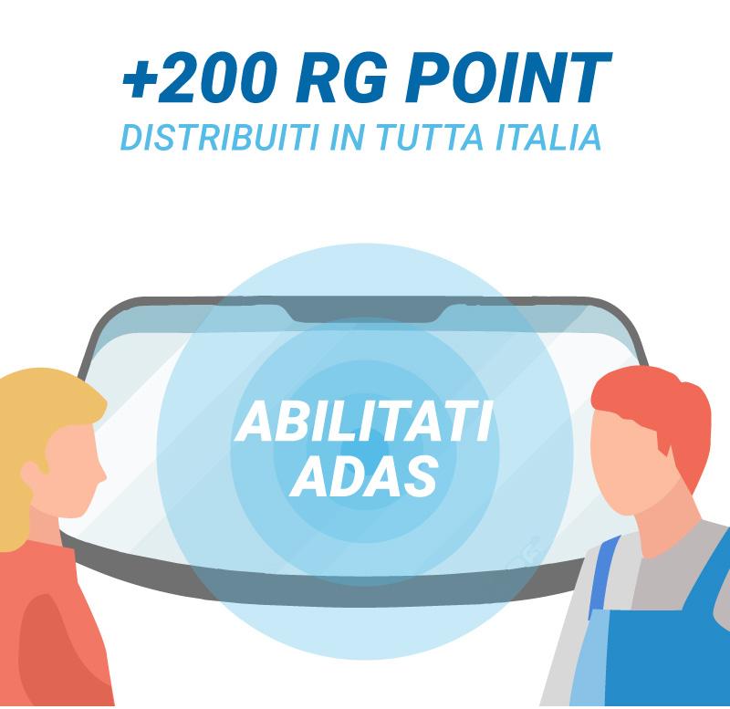 200 RG POINT ABILITATI ADAS in tutta Italia