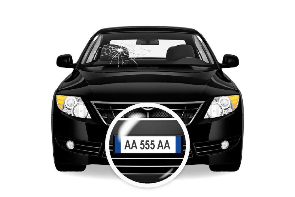 Ricerca tramite targa GLASS RADAR cristalli auto nera