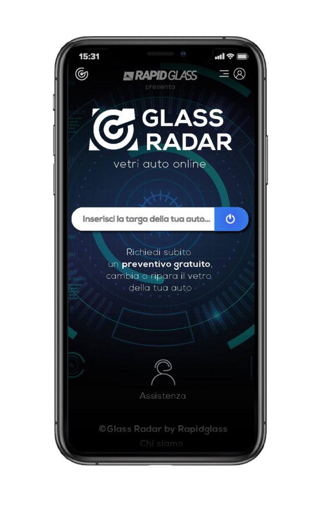Anteprima richiesta preventivo gratuito GLASS RADAR